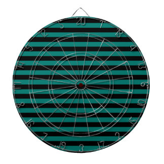 Thin Stripes - Black and Pine Green Dartboard