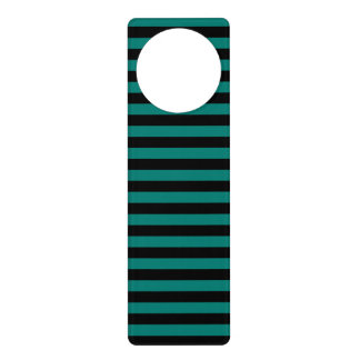 Thin Stripes - Black and Pine Green Door Hanger
