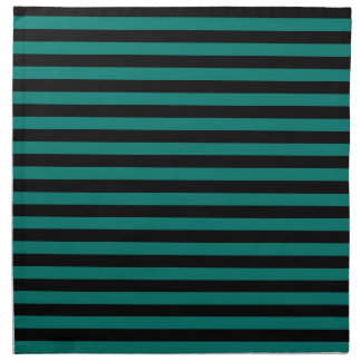 Thin Stripes - Black and Pine Green Napkin