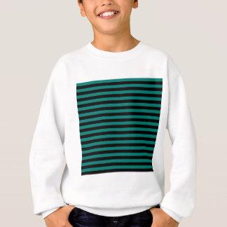Thin Stripes - Black and Pine Green Sweatshirt