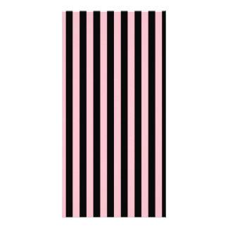 Thin Stripes - Black and Pink Custom Photo Card