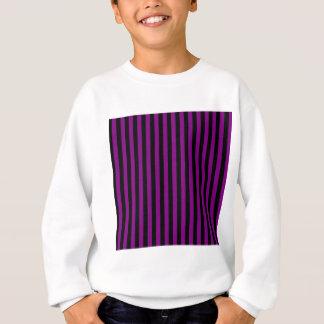 Thin Stripes - Black and Purple Sweatshirt