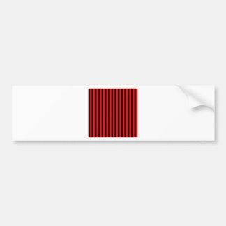 Thin Stripes - Black and Red Bumper Sticker