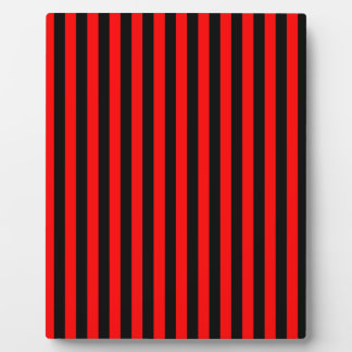 Thin Stripes - Black and Red Plaque