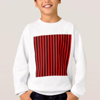 Thin Stripes - Black and Red Sweatshirt