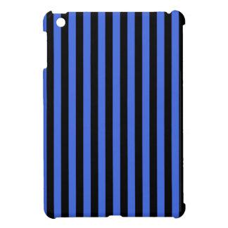 Thin Stripes - Black and Royal Blue iPad Mini Case