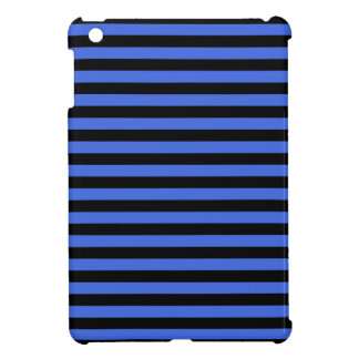 Thin Stripes - Black and Royal Blue iPad Mini Covers