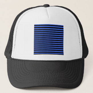 Thin Stripes - Black and Royal Blue Trucker Hat