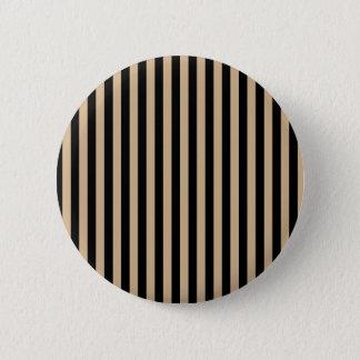 Thin Stripes - Black and Tan 6 Cm Round Badge