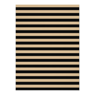 Thin Stripes - Black and Tan Card
