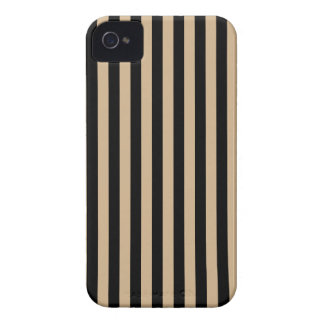 Thin Stripes - Black and Tan Case-Mate iPhone 4 Case