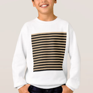 Thin Stripes - Black and Tan Sweatshirt