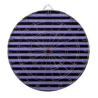 Thin Stripes - Black and Ube Dartboard
