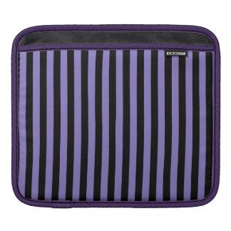Thin Stripes - Black and Ube iPad Sleeve