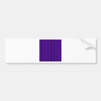 Thin Stripes - Black and Violet Bumper Sticker