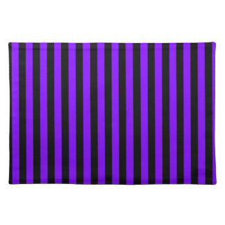 Thin Stripes - Black and Violet Placemat