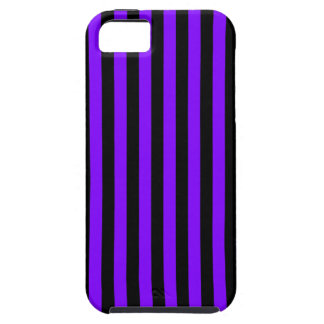 Thin Stripes - Black and Violet Tough iPhone 5 Case