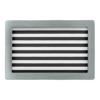 Thin Stripes - Black and White Belt Buckle