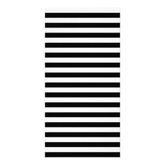 Thin Stripes - Black and White Customised Photo Card
