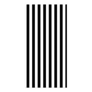 Thin Stripes - Black and White Photo Greeting Card