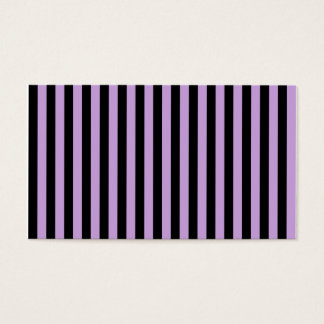 Thin Stripes - Black and Wisteria Business Card