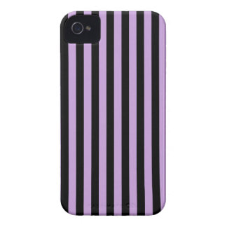 Thin Stripes - Black and Wisteria Case-Mate iPhone 4 Case