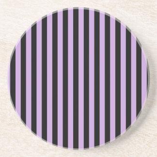 Thin Stripes - Black and Wisteria Coaster