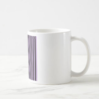 Thin Stripes - Black and Wisteria Coffee Mug