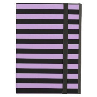 Thin Stripes - Black and Wisteria Cover For iPad Air