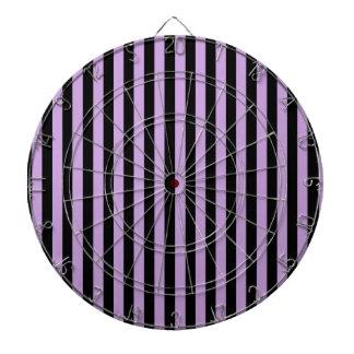 Thin Stripes - Black and Wisteria Dartboard