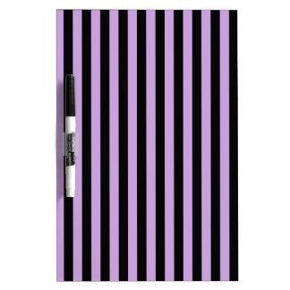 Thin Stripes - Black and Wisteria Dry Erase Board