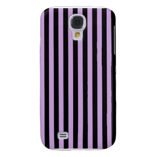 Thin Stripes - Black and Wisteria Galaxy S4 Covers