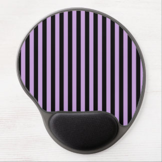 Thin Stripes - Black and Wisteria Gel Mouse Pad