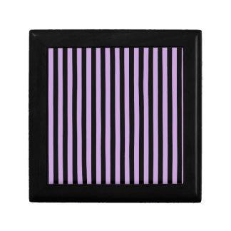 Thin Stripes - Black and Wisteria Gift Box