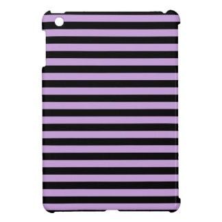 Thin Stripes - Black and Wisteria iPad Mini Cases