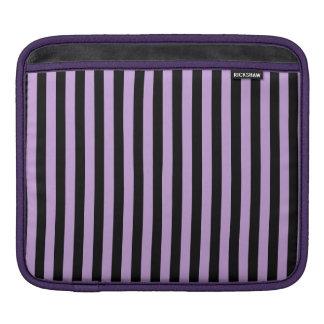 Thin Stripes - Black and Wisteria iPad Sleeve