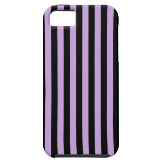 Thin Stripes - Black and Wisteria iPhone 5 Case