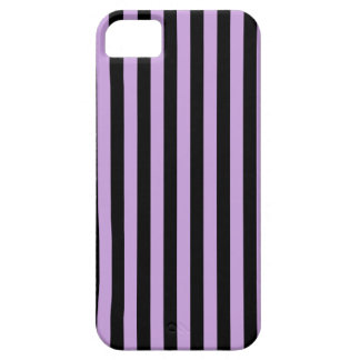 Thin Stripes - Black and Wisteria iPhone 5 Covers