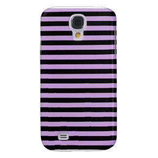 Thin Stripes - Black and Wisteria Samsung Galaxy S4 Case