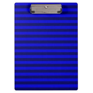 Thin Stripes - Blue and Dark Blue Clipboard