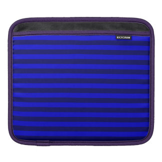 Thin Stripes - Blue and Dark Blue iPad Sleeve
