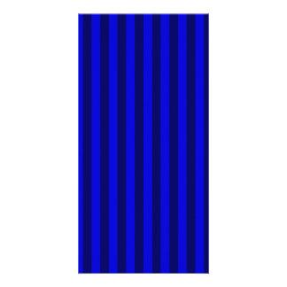 Thin Stripes - Blue and Dark Blue Photo Greeting Card