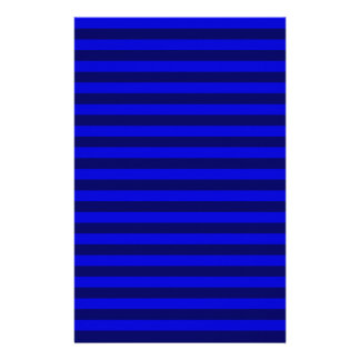 Thin Stripes - Blue and Dark Blue Stationery