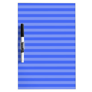 Thin Stripes - Blue and Light Blue Dry Erase Board