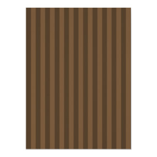 Thin Stripes - Brown and Dark Brown Card
