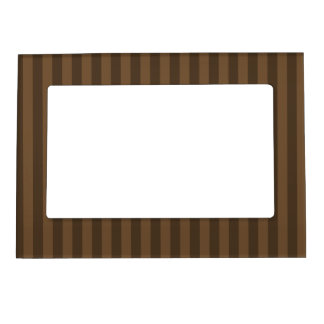 Thin Stripes - Brown and Dark Brown Magnetic Picture Frame