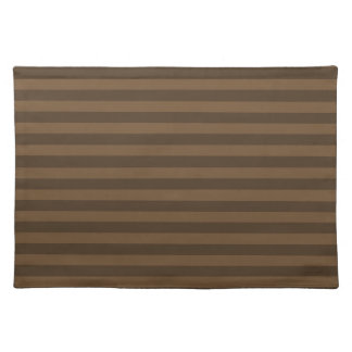 Thin Stripes - Brown and Dark Brown Placemat