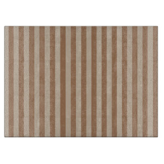 Thin Stripes - Brown and Light Brown Cutting Board