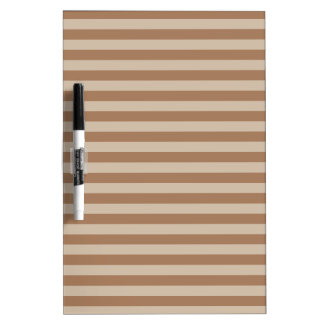 Thin Stripes - Brown and Light Brown Dry Erase Board