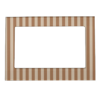 Thin Stripes - Brown and Light Brown Magnetic Picture Frame